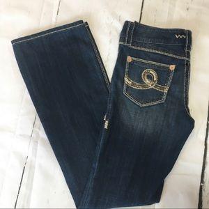 🍃🖤 Seven7 Bootcut Low-Rise Denim Jeans